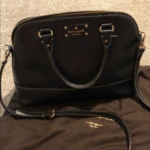 Kate Spade black purse with pink liner